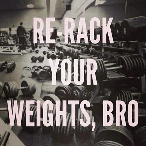 re-rack your weights