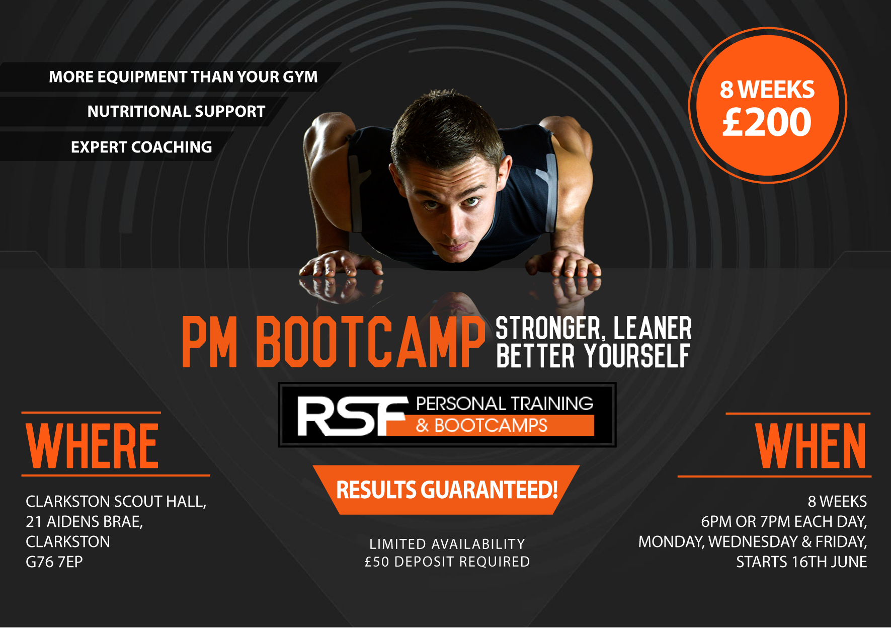 RSF PM Bootcamp Poster